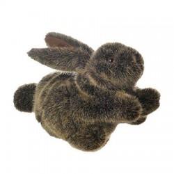 Marionnette lapin beige 30cm
