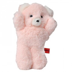 Ours hochet CAMILLE 20 cm peluche rose