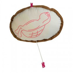 Coussin musical tortue 20 cm