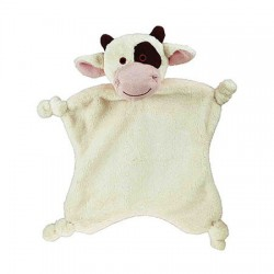 Doudou vache REVERSO, ecru, 27 cm