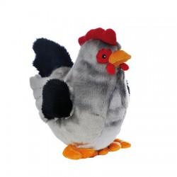 Peluche Poule GRISETTE,  25 cm-grise