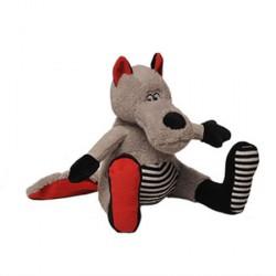 WOLFIE le loup assis 25 cm