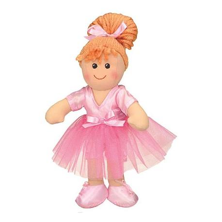 Poupée chiffon ROSE danseuse 25 cm & sac