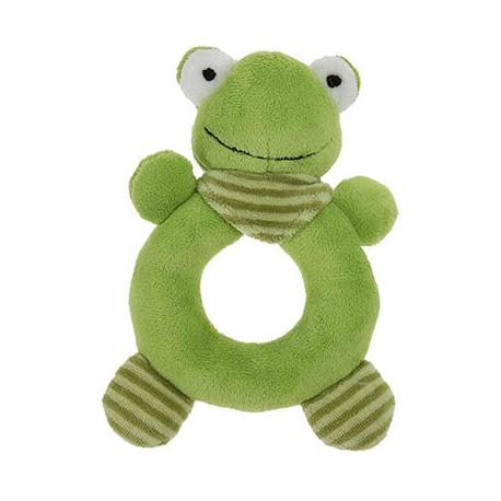 "Hochet grenouille ""La Ferme"", 15 cm"