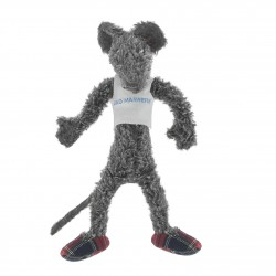 Peluche grise BAD MANNERS, 35 cm